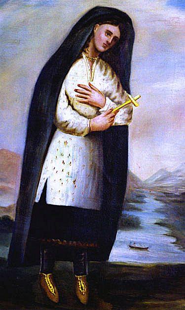 TEKAKOUITHA (Tagaskouïta, Tegakwitha), baptisée Kateri (Catherine), première Indienne à avoir été déclarée vénérable, née d'une Algonquine chrétienne et d'un Agnier païen en 1656, à Ossernenon (Auriesville, N.Y.), décédée près de Montréal en 1680.