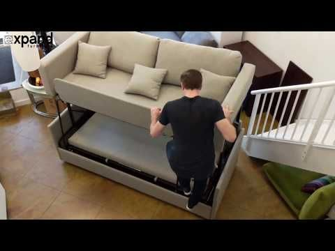 The Dormire Bunk Bed Couch Transformer Expand Furniture