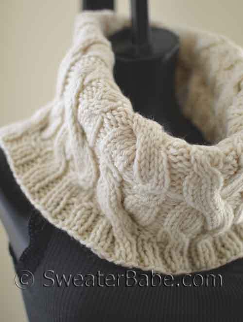 Knitting Pattern Cable Knit Cowl Vest : #120 Double Cabled Cowl PDF Knitting Pattern Cable, Knitting and Awesome