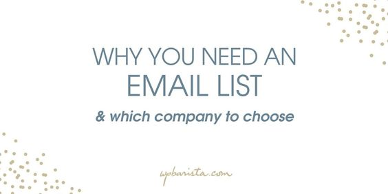 You know you need a 'list' but why?