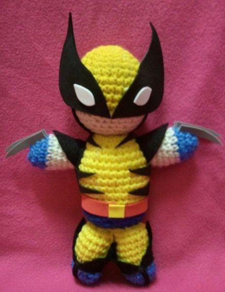 NERD DOLLZ XMen Wolverine AmigurumiI Crochet doll by NerdDollz, $24.99: