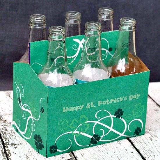 St. Patrick's Day Soda Bottle Printable