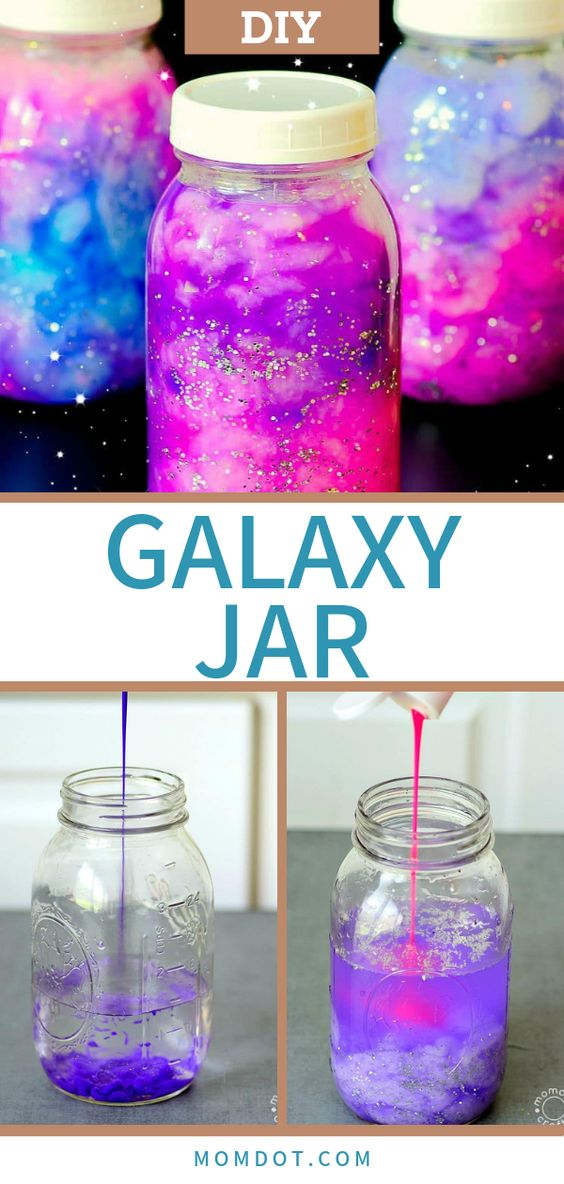Hold the galaxy in your hands! This creative and easy DIY tutorial is fun and relaxing at the same time. Perfect for kids and for adults. #crafting #diyprojects #diy #forkids #craftideas