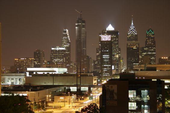 Philadelphia skyline at night - Google Search