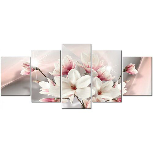 East Urban Home Magnolia In Bloom Wide Graphic Art Multi Piece Image On Wrapped Canvas Floral Wall Art Floral Painting Floral Wall