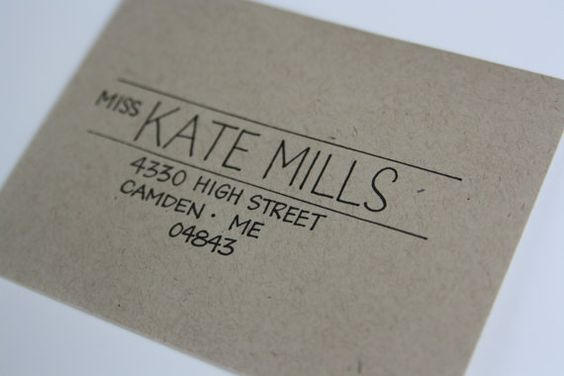 Envelope lettering [Mel: tried to find a source, could not. If anyone does, please comment and I'll fix the link.]
