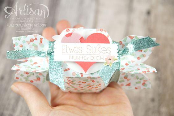Stampin´ Up! - Artisan Design Team - Envelope Punch Board - Verpackung - Anleitung - Designerpapier Geburtstagsstrauß - 1