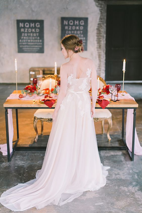 Illusion back wedding dress with an overlay | Natalia Donskih Photography