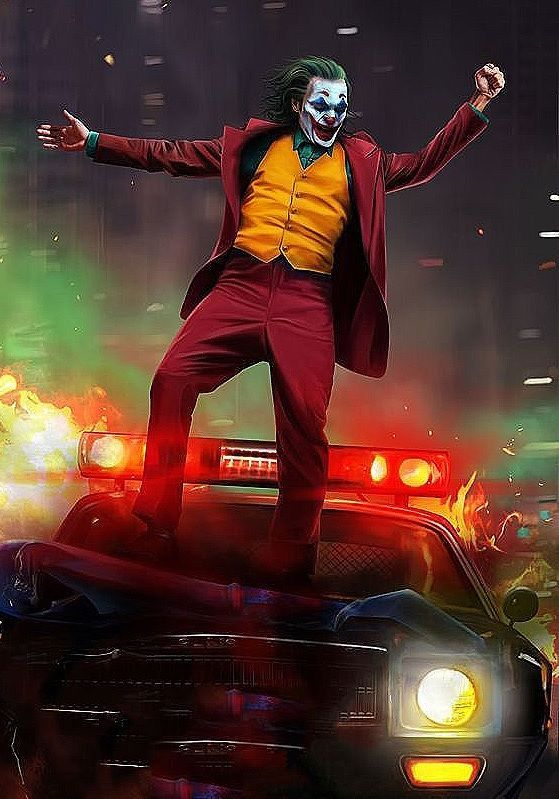 Joker Canvas 2019 Joaquin Phoenix Movie Art 16X20 Canvas Batman Heath Ledger