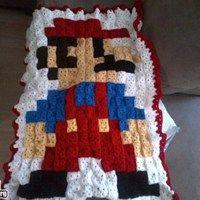 Super Mario Afghan - I am SO making this