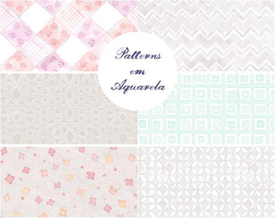 Patterns em Aquarela