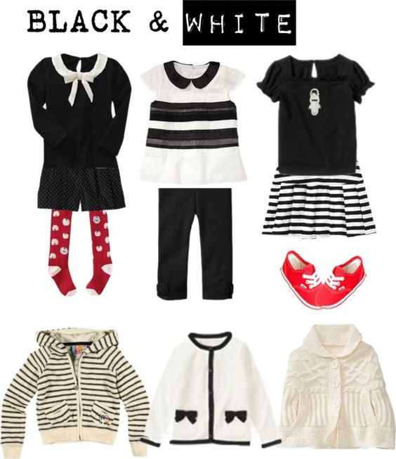 Black and white baby clothing