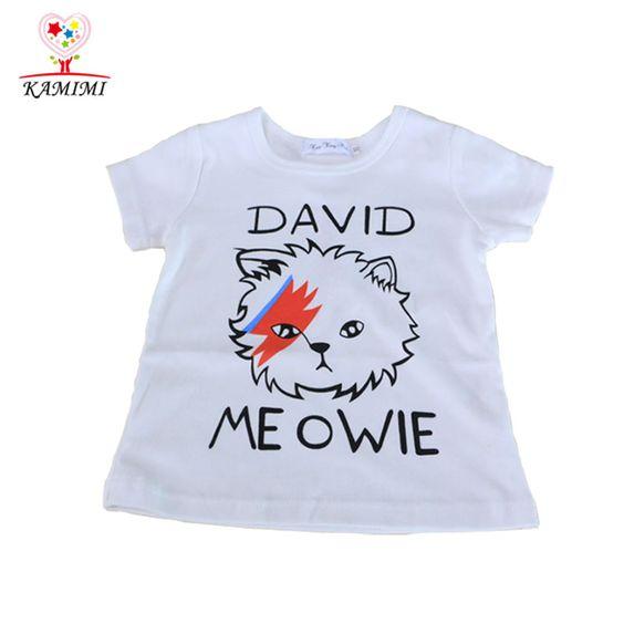 $11.44 (Buy here: http://appdeal.ru/7t17 ) KAMIMI summer T Shirt Boys Kids Short Sleeve cotton O Neck girls T Shirt cartoon lightning cats print Kids Summer Clothing A342 for just $11.44