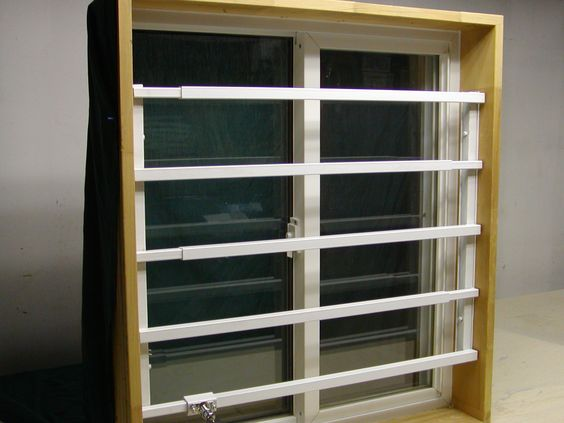 and swing open window securiy bars for basement and kitchen windows