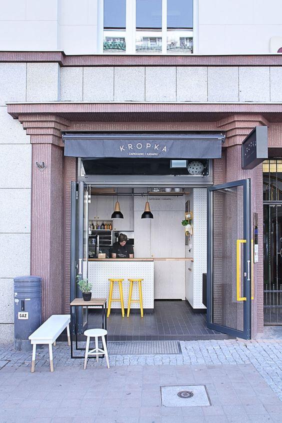 Un snack-bar de 11,5m² | Decoration, Restaurants and Bar
