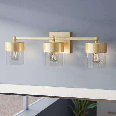 Everly Quinn Ozella 4 Light Shaded Square Rectangle Chandelier Reviews Wayfair Vanity Lighting Gold Bathroom Bathroom Vanity Lighting