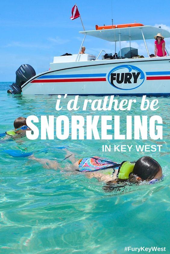 Kids snorkeling in Key West with Fury Water Adventures #keywest #snorkeling #furykeywest