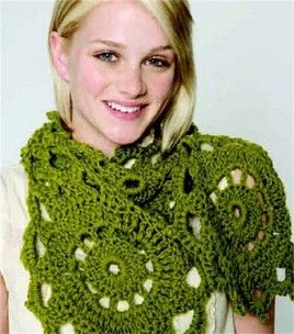 I have this scarf in many different colors and textures of yarn, it's pretty quick to make.