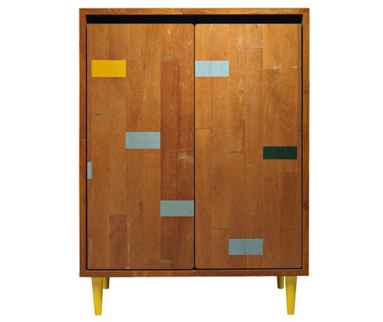 soren rose studio: furniture made from re-purposed gym floors