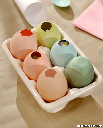 Love confetti eggs- perfect for Easter Brunch!