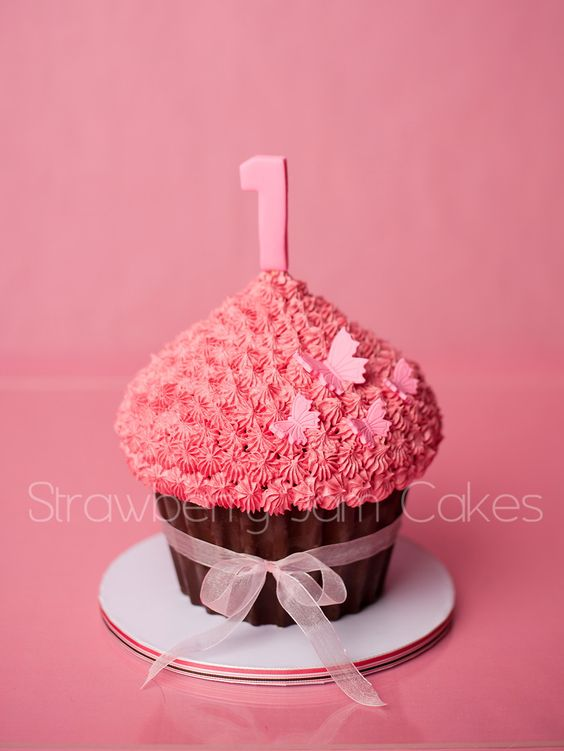 giant cupcake cake for Avirees first, 1st birthday party.