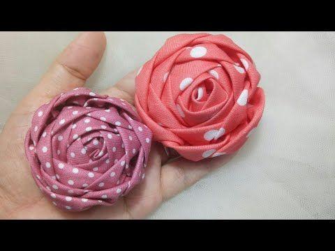 157 Diy Tutorial Cara Membuat Bros Bunga Mawar Kain Katun