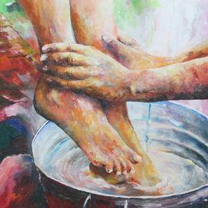 voetwassing: