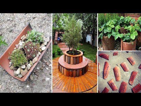 20 Geniale Und Kreative Wege Zu Recycelten Dachziegeln Youtube In 2020 Roof Tiles Garden Diy Garden