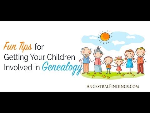 Do you wish your children were interested in genealogy like you? They can be. All you have to do is use the right techniques with them. These tips work on almost any kid. Start using them today... http://www.GenealogyGold.com