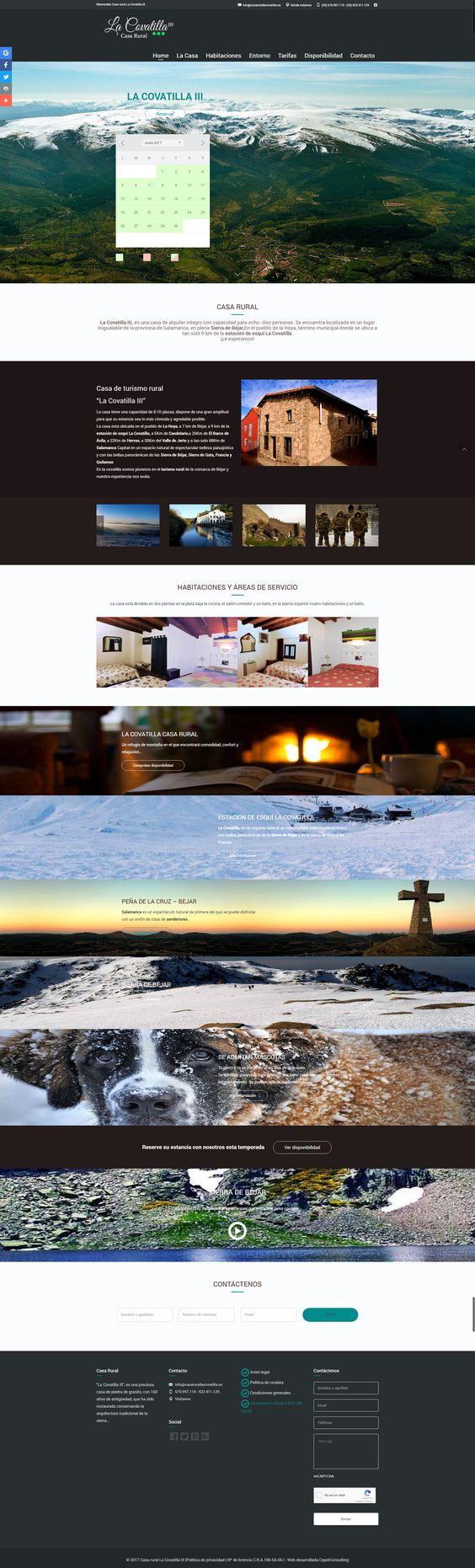 Web responsive casa rural en Salamanca