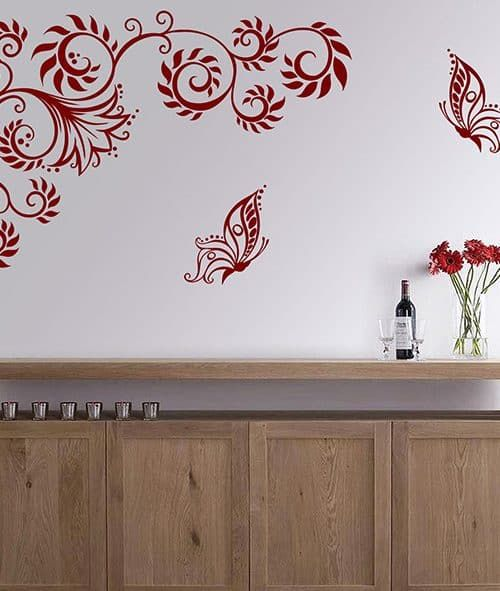 Adesivi Floreali Da Parete.Adesivi Murali Albero Decorazioni Da Parete Casa