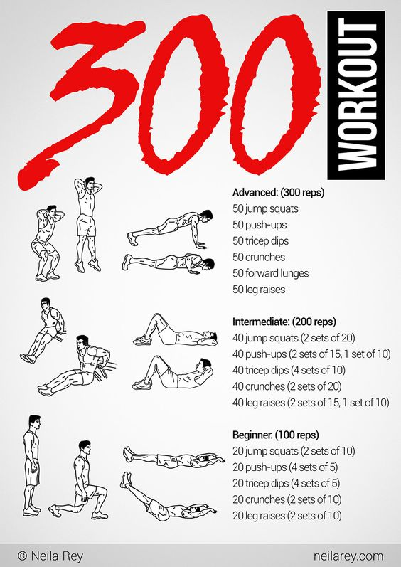 300 Workout for the morning                                                                                                                                                      More