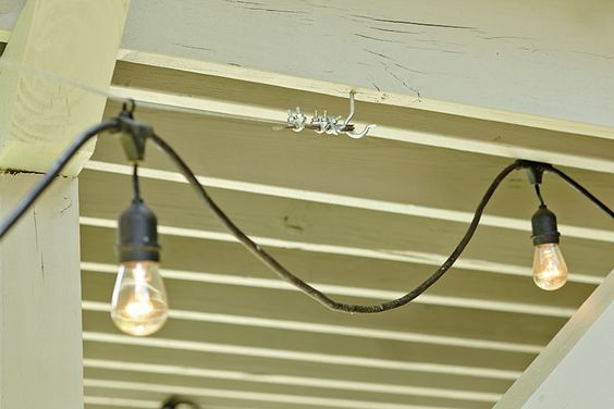 We, How to hang and Hanging lights on Pinterest
