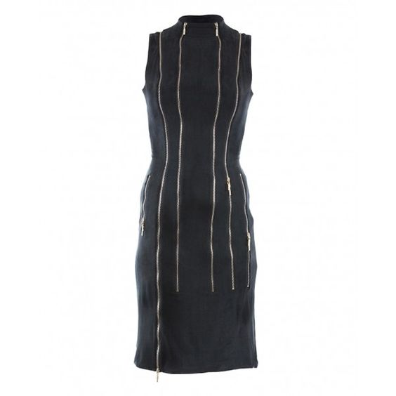 'I Bet on Your Dress' by #adelinarusu - Dark #Grey Jersey #Dress with multiple #zippers  http://adelinarusu.com/product/i-bet-on-your-dress/