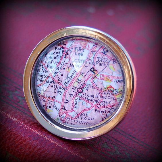 Manhattan Map Cabinet Knob by DaisyMaeDesignsShop on Etsy, $10.00