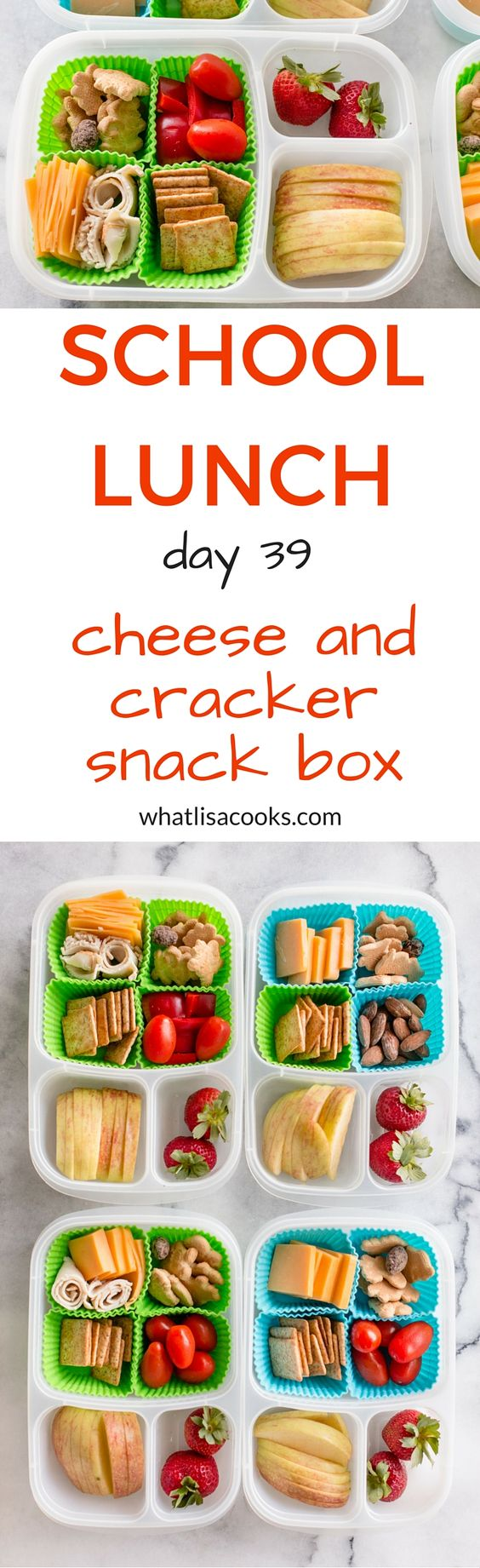 School Lunch Day 39: Cheese & cracker snack box: