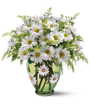 Daisies Daisies Daisies, even the vase.. love the vase!:
