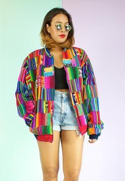 Colourful Bomber Jacket Jacketin