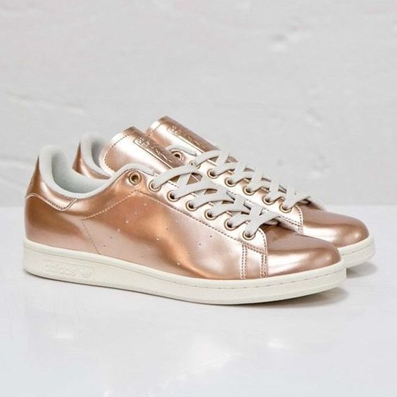 Stan Smith Femme Rose Or