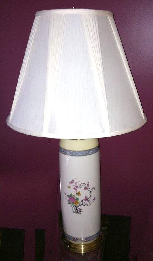 Ming Birds Older Cream Black Green Stamp 26 Electric Lamp Shade By Lenox Lamp Electric Lamp Lamp Shade