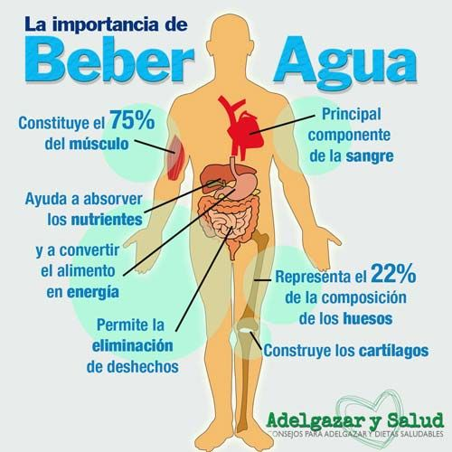 Beber agua ayuda a bajar de peso