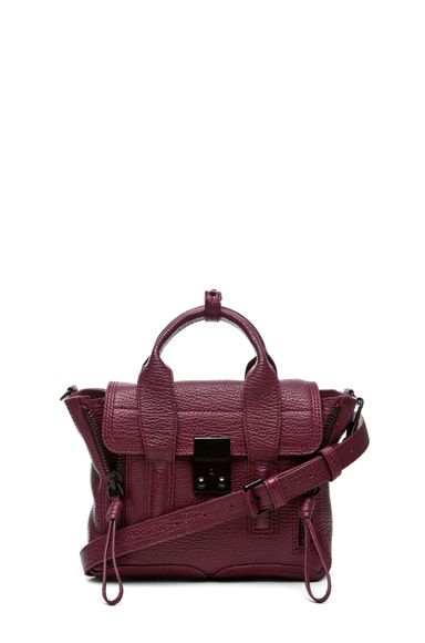 The chicest things come in small packages -Pashli Mini Satchel in Aubergine