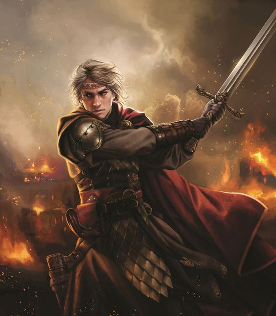 Aegon de la casa Targaryen, primero con el nombre,            el conquistador de westeros, rey de los Andalos, los Roynar, y los Primeros Hombres, señor de los 7 Reynos, protector del reyno, y jinete de Balerion                   el terror negro.