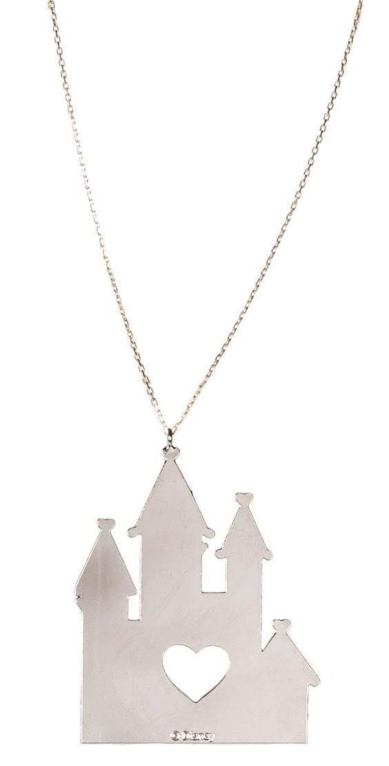 silver disney castle necklace from gogo philip xoxo disney disney my wedding