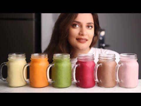 ٦ مشروبات باردة وصحية تهون عليكم حر الصيف Youtube Smoothies Juice Drinks