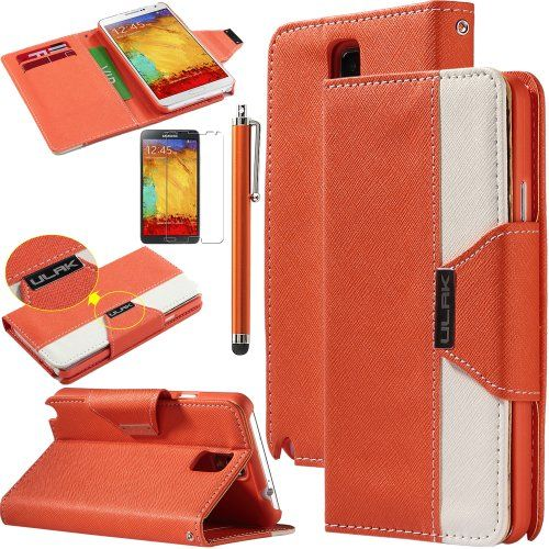 Pandamimi ULAK(TM) Luxury PU Leather Wallet Flip Pouch Case Stand Cover For Samsung Galaxy Note 3 N9000 W/Screen Protector 1xTouch Stylus(Orange/White) ULAK http://www.amazon.com/dp/B00G45PV6S/ref=cm_sw_r_pi_dp_rzGkub17H9FFC