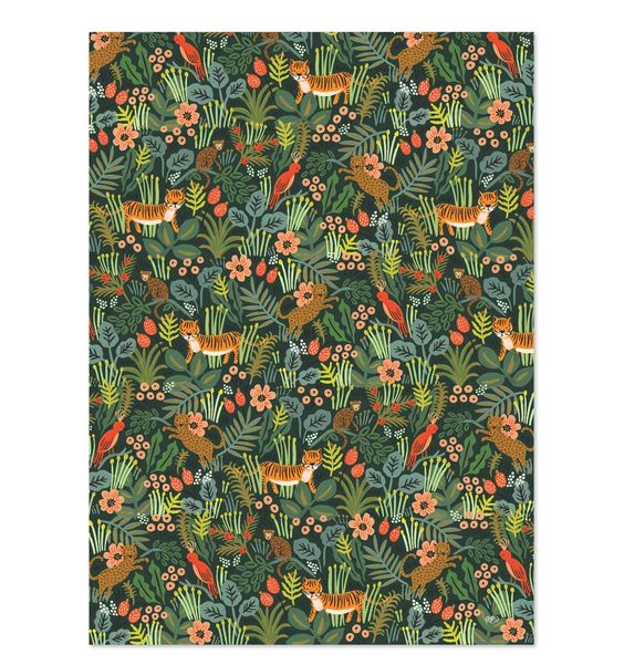 Jungle Set of 3 Decorative Wrapping Sheets - kids'/guest room decor?