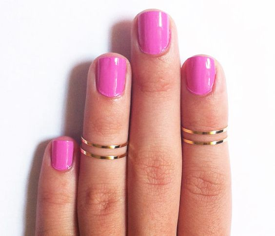 Gold Above the Knuckle Ring Midi Ring  Set by SilverPhantomJewelry, $5.99