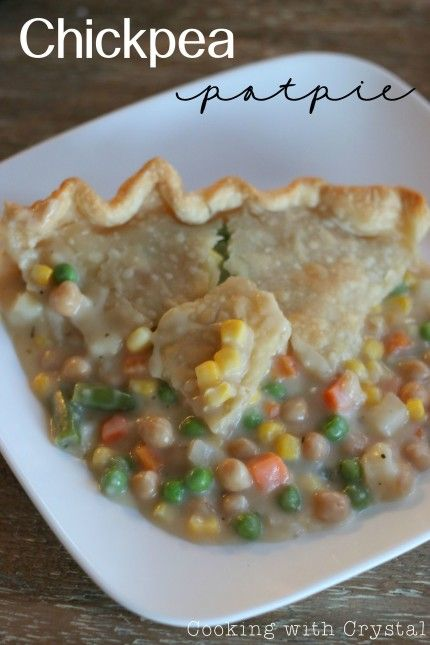... to change the traditional chicken pot pie into a CHICKPEA pot pie