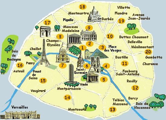 Maps Update 21051488 Map of Paris and Attractions Paris – Attraction Map of Paris